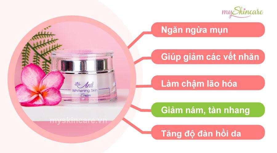 Review Kem dưỡng ban đêm Whitening Skin Cream