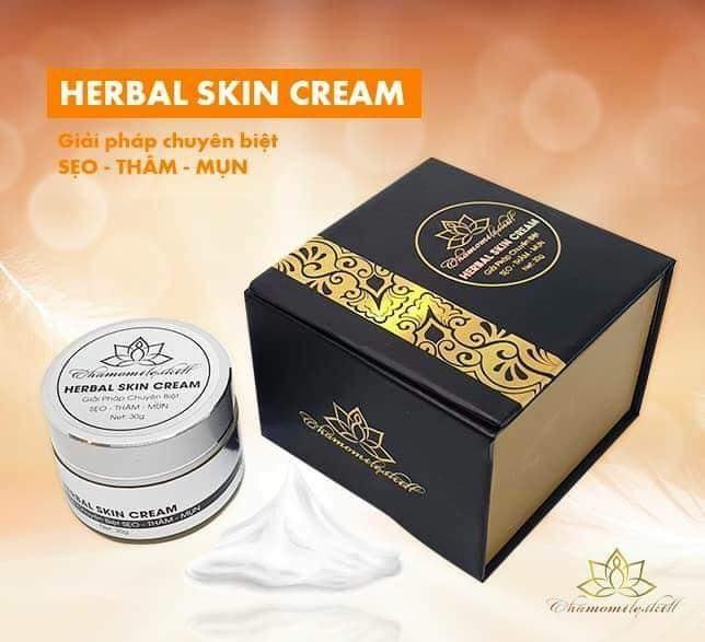 Kem trị sẹo rỗ Herbal skin cream Chamomile